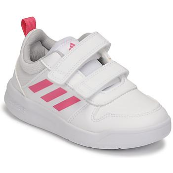 Cipők Lány Rövid szárú edzőcipők adidas Performance TENSAUR C Fehér / Rózsaszín