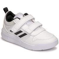 Cipők Gyerek Rövid szárú edzőcipők adidas Performance TENSAUR C Fehér / Fekete