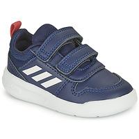 Cipők Gyerek Rövid szárú edzőcipők adidas Performance TENSAUR I Tengerész / Fehér