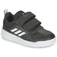 Cipők Gyerek Rövid szárú edzőcipők adidas Performance TENSAUR I Fekete  / Fehér