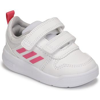 Cipők Lány Rövid szárú edzőcipők adidas Performance TENSAUR I Fehér / Rózsaszín