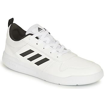 Cipők Gyerek Rövid szárú edzőcipők adidas Performance TENSAUR K Fehér / Fekete