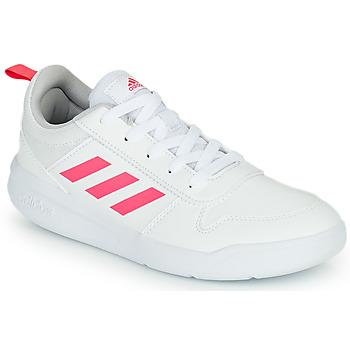 Cipők Lány Rövid szárú edzőcipők adidas Performance TENSAUR K Fehér / Rózsaszín