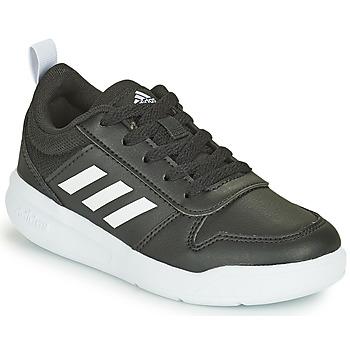 Cipők Gyerek Rövid szárú edzőcipők adidas Performance TENSAUR K Fekete  / Fehér