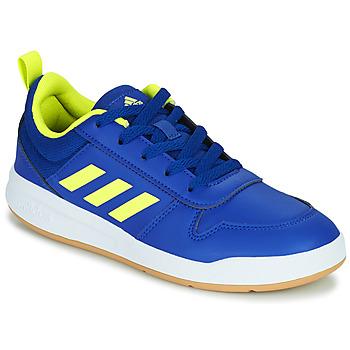 Cipők Gyerek Rövid szárú edzőcipők adidas Performance TENSAUR K Kék / Fluoreszkáló
