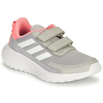 Cipők Lány Futócipők adidas Performance TENSAUR RUN C Szürke / Rózsaszín