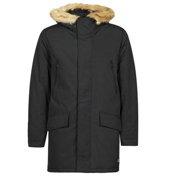 Ruhák Férfi Parka kabátok Levi's WOODSIDE LONG UTLTY PRKA Fekete