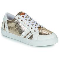 Cipők Női Rövid szárú edzőcipők Les Tropéziennes par M Belarbi SUZIE Arany / Fehér
