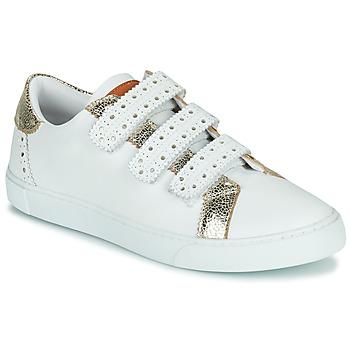 Cipők Női Rövid szárú edzőcipők Les Tropéziennes par M Belarbi SUZETTE Fehér / Arany