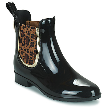 Cipők Női Gumicsizmák Les Tropéziennes par M Belarbi RAINBOO Fekete  / Leopárd