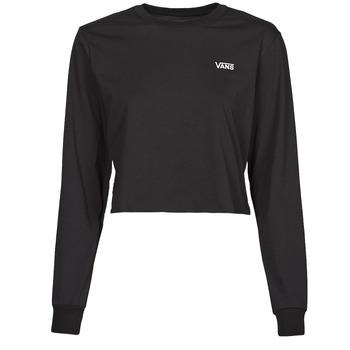 Ruhák Női Hosszú ujjú pólók Vans JUNIOR V LS CROP Fekete