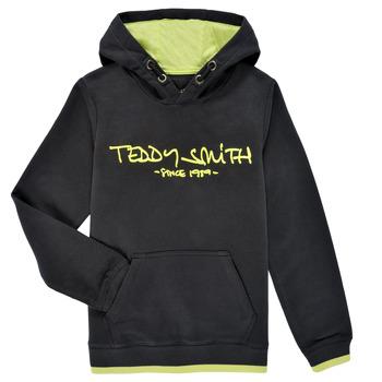 Ruhák Fiú Pulóverek Teddy Smith SICLASS HOODY Fekete