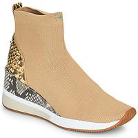 Cipők Női Magas szárú edzőcipők MICHAEL Michael Kors SKYLER Teve