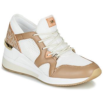 Cipők Női Rövid szárú edzőcipők MICHAEL Michael Kors LIV Teve / Fehér