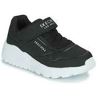 Cipők Gyerek Rövid szárú edzőcipők Skechers UNO LITE Fekete