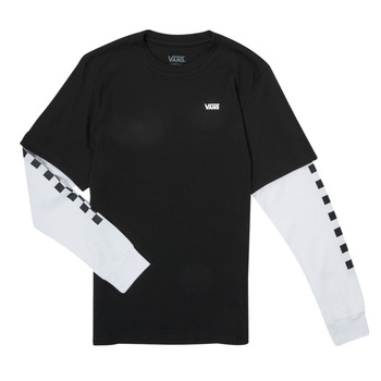Ruhák Fiú Hosszú ujjú pólók Vans LONG CHECK TWOFER Fekete
