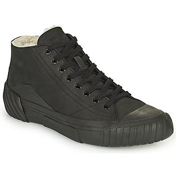 Cipők Férfi Magas szárú edzőcipők Kenzo TIGER CREST SHEARLING SNEAKERS Fekete