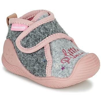Cipők Lány Mamuszok Biomecanics BIOHOME Szürke / Rózsaszín