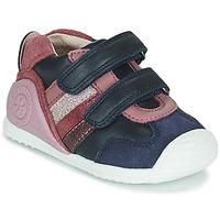 Cipők Lány Rövid szárú edzőcipők Biomecanics BIOGATEO SPORT Tengerész / Rózsaszín