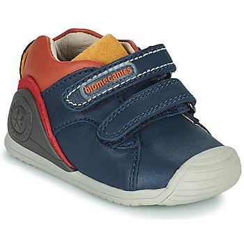 Cipők Fiú Rövid szárú edzőcipők Biomecanics BIOGATEO CASUAL Tengerész