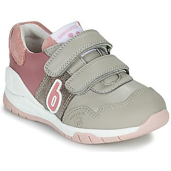 Cipők Lány Rövid szárú edzőcipők Biomecanics BIOEVOLUTION SPORT Szürke / Rózsaszín