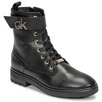 Cipők Női Bokacsizmák Calvin Klein Jeans CLEAT BIKER BOOT Fekete