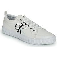 Cipők Női Rövid szárú edzőcipők Calvin Klein Jeans VULCANIZED LACEUP SNEAKER Fehér