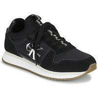 Cipők Női Rövid szárú edzőcipők Calvin Klein Jeans RUNNER LACEUP Fekete
