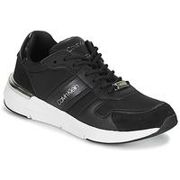Cipők Női Rövid szárú edzőcipők Calvin Klein Jeans FLEXRUNNER MIXED MATERIALS Fekete  / Ezüst