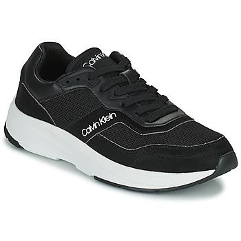 Cipők Férfi Rövid szárú edzőcipők Calvin Klein Jeans LOW TOP LACE UP MIX Fekete