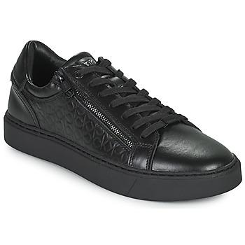 Cipők Férfi Rövid szárú edzőcipők Calvin Klein Jeans LOW TOP LACE UP Fekete