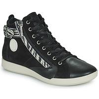 Cipők Női Magas szárú edzőcipők Pataugas PALME Fekete