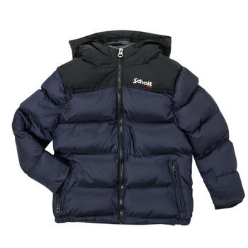 Ruhák Gyerek Steppelt kabátok Schott UTAH 2 Tengerész