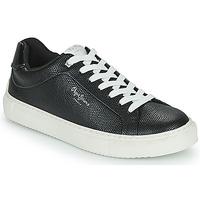 Cipők Női Rövid szárú edzőcipők Pepe jeans ADAMS COLLINS Fekete