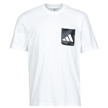 Ruhák Férfi Rövid ujjú pólók adidas Performance CAMO PKT TEE Fehér