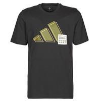 Ruhák Férfi Rövid ujjú pólók adidas Performance 3BAR LOGO TEE Fekete