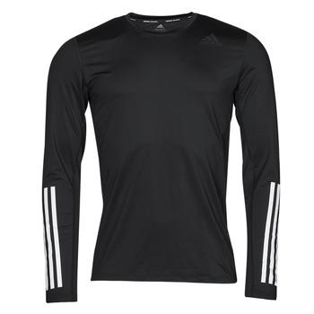 Ruhák Férfi Hosszú ujjú pólók adidas Performance TF LS FT 3S Fekete