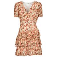 Ruhák Női Rövid ruhák Moony Mood ORNAMA Fehér / Sokszínű