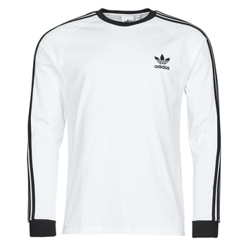 Ruhák Férfi Hosszú ujjú pólók adidas Originals 3-STRIPES LS T Fehér