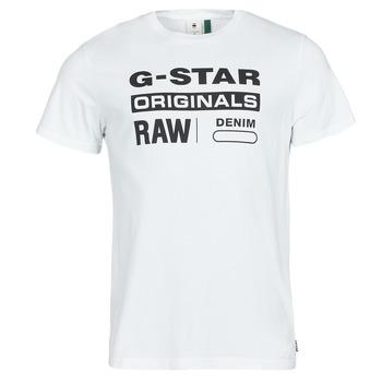 Ruhák Férfi Rövid ujjú pólók G-Star Raw GRAPHIC 8 R T SS Fehér