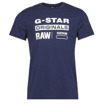 Ruhák Férfi Rövid ujjú pólók G-Star Raw GRAPHIC 8 R T SS Kék