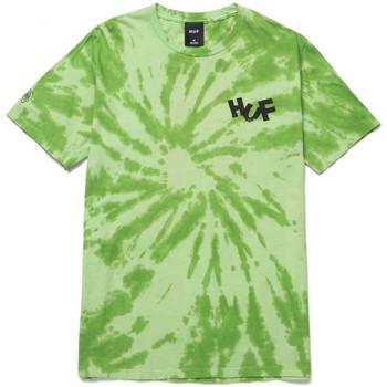 Ruhák Férfi Pólók / Galléros Pólók Huf T-shirt haze brush tie dye ss Zöld