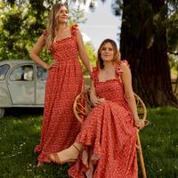 Ruhák Női Hosszú ruhák Céleste AURORE Piros