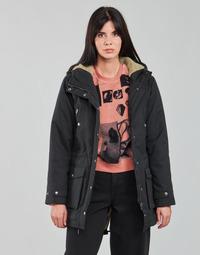 Ruhák Női Parka kabátok Volcom WALK ON BY 5K PARKA Fekete