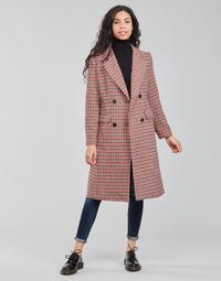Ruhák Női Kabátok Betty London PIVENE Fekete  / Piros