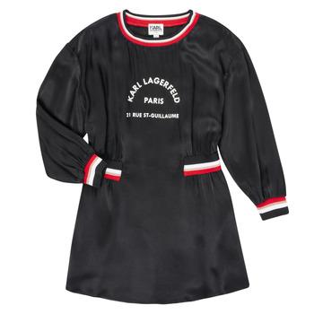Ruhák Lány Rövid ruhák Karl Lagerfeld RUBIS Fekete