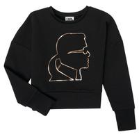 Ruhák Lány Pulóverek Karl Lagerfeld CORNALINE Fekete