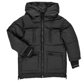 Ruhák Lány Steppelt kabátok Karl Lagerfeld DIAMANT NOIR Fekete