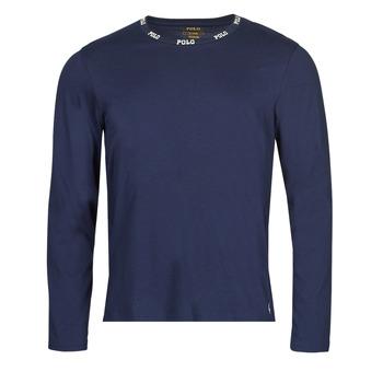 Ruhák Férfi Hosszú ujjú pólók Polo Ralph Lauren CREEW SLEEP TOP Tengerész