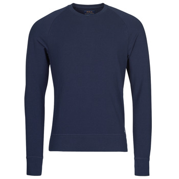 Ruhák Férfi Hosszú ujjú pólók Polo Ralph Lauren LS CREW SLEEP TOP Tengerész